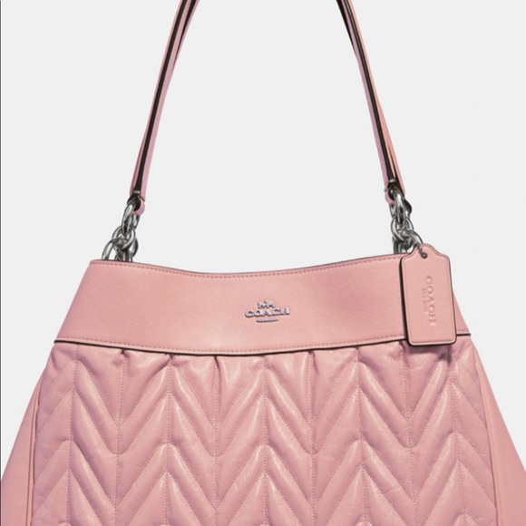 Coach Handbags - Lexy Shoulder Bag With Quilting in Pink